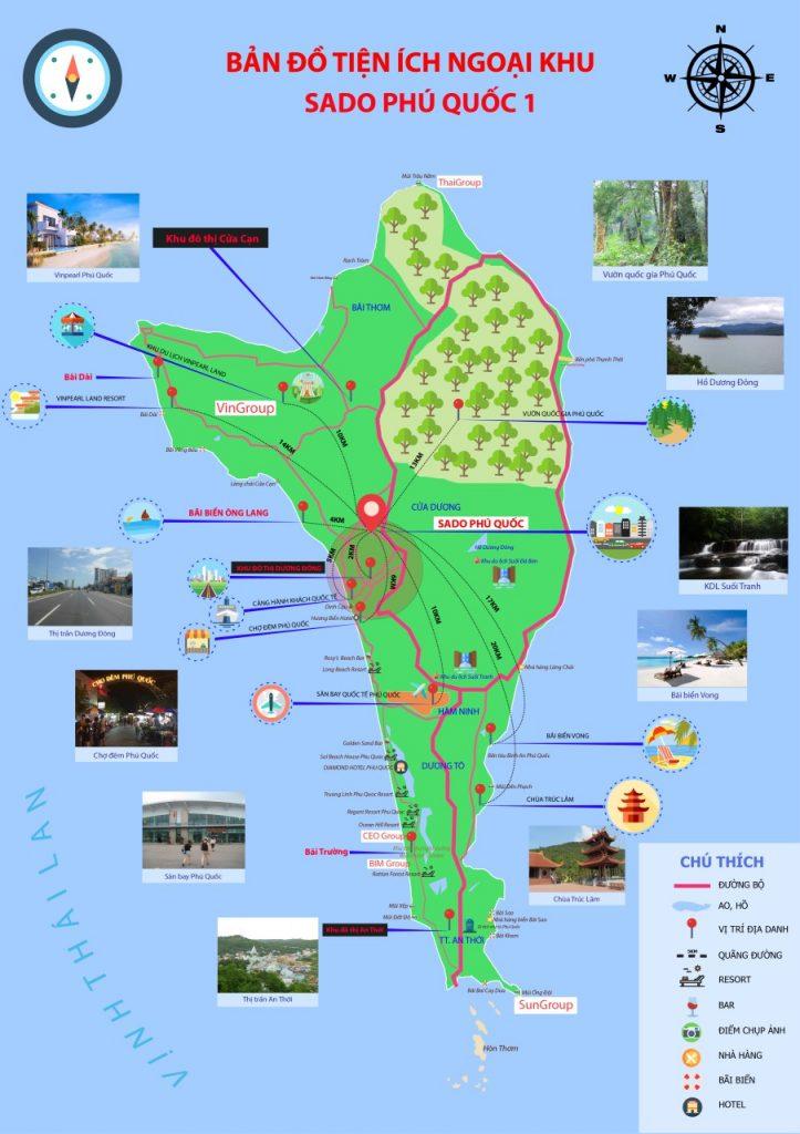 Bản đồ tiện ích phú quốc