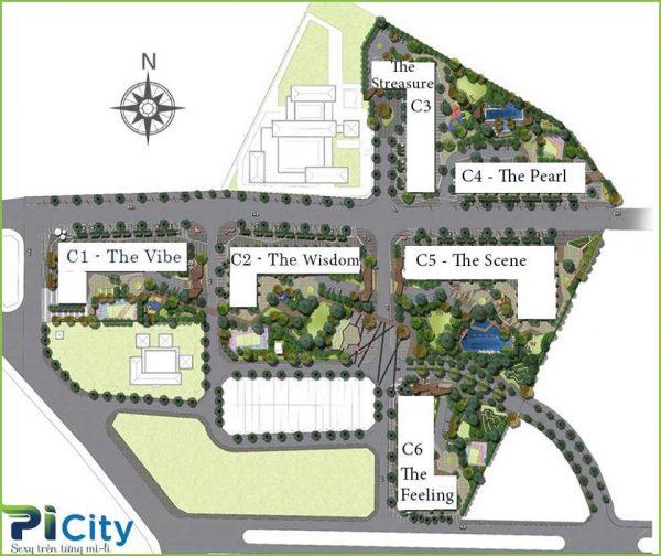 Mặt bằng tổng thể dự án Picity High Park