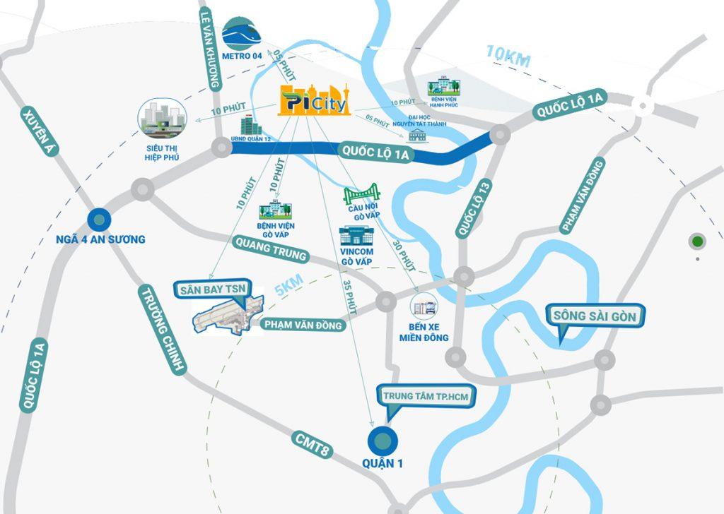 Vị trí dự án Picity High Park Thạnh Xuân Quận 12