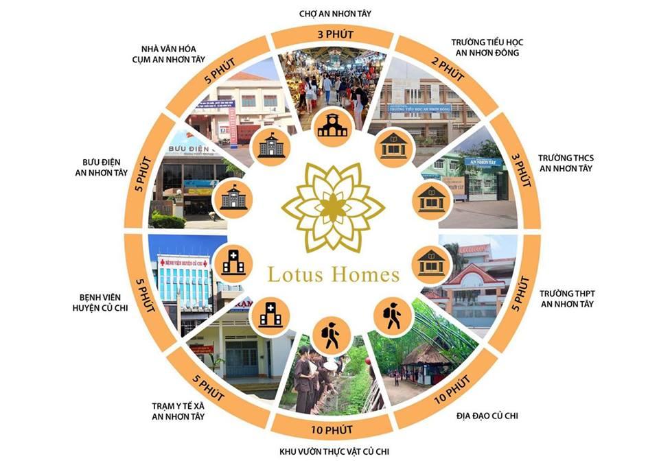 Kết nối vị trí Lotus Homes