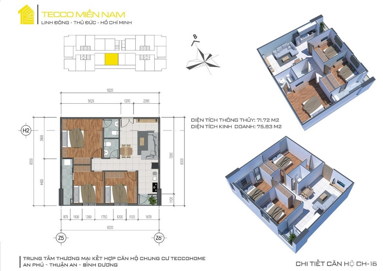 Căn Hộ Tecco Home An Phú 2PN-1WC – Giá Chỉ Từ 990Tr