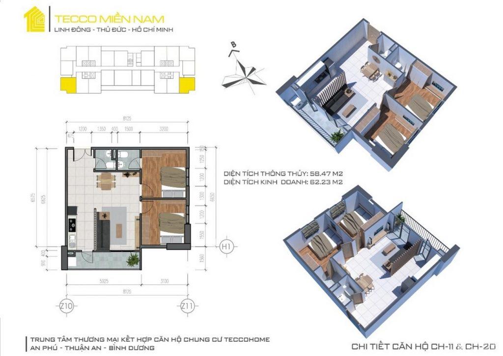 Thiết kế căn hộ tecco home